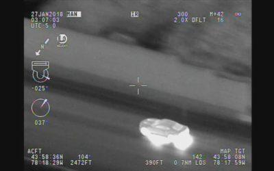 تعقیب و گریز ۹۰ دقیقهای هلیکوپتر پلیس و اتومبیل فراری