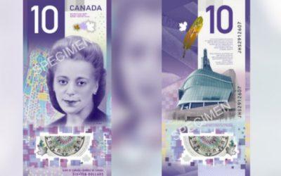 تصویر نخستین زن کانادایی بر روی اسکناسهای ۱۰ دلاری