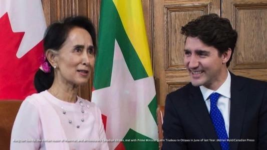 کانادا شهروندی افتخاری به آنگ سان سوچی را پس گرفت