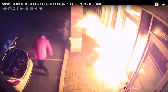 تقاضای پلیس منطقه یورک برای شناسایی خلافکار آتشافروز