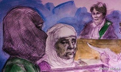 زن نقاب پوش داعشی، به جرم حمله تروریستی در کانادا به ۷ سال زندان محکوم شد